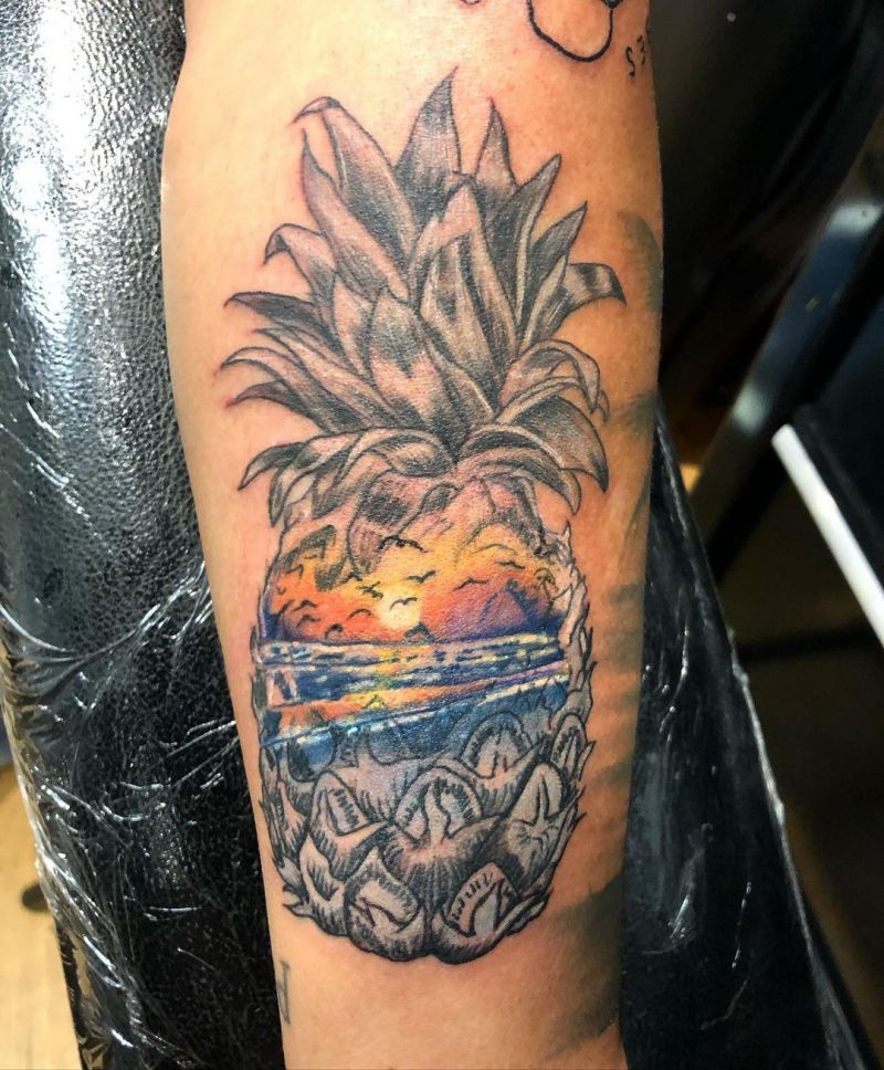 30 Sweet Pineapple Tattoos You Must Try