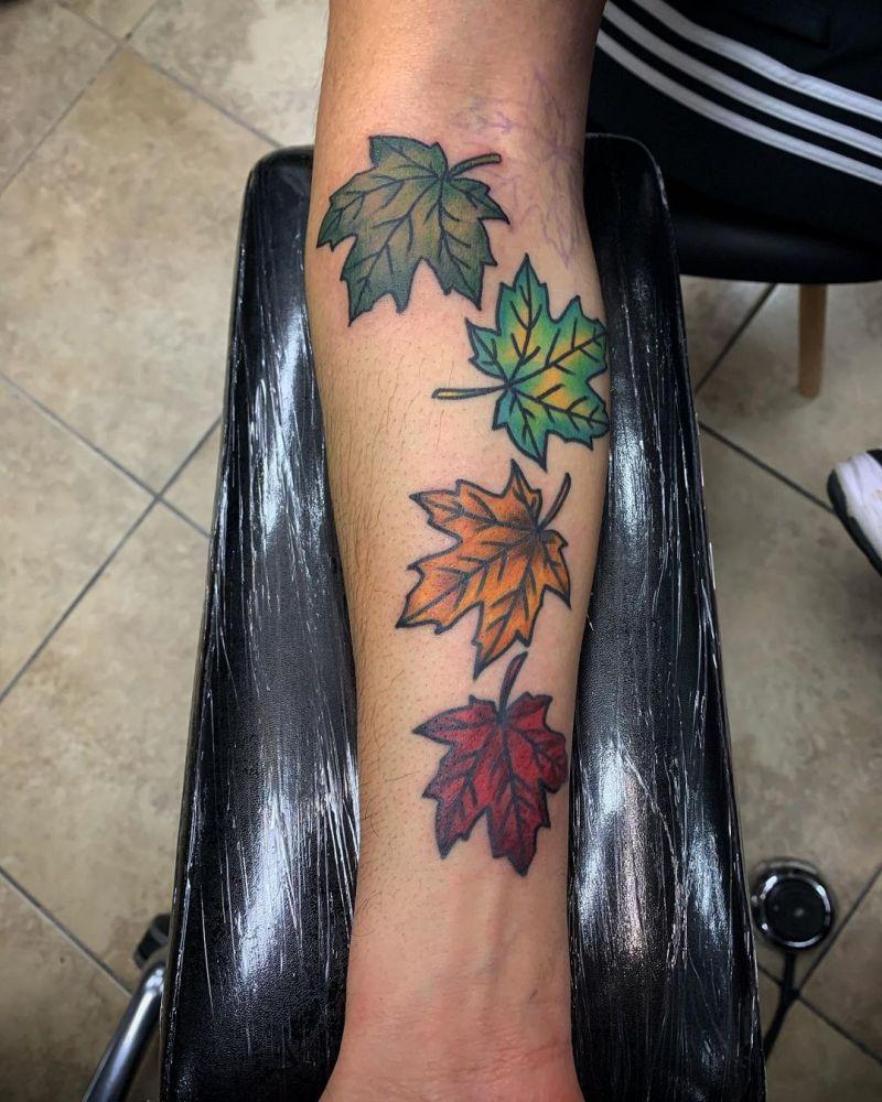 30 Pretty Leaf Tattoos You Can Copy