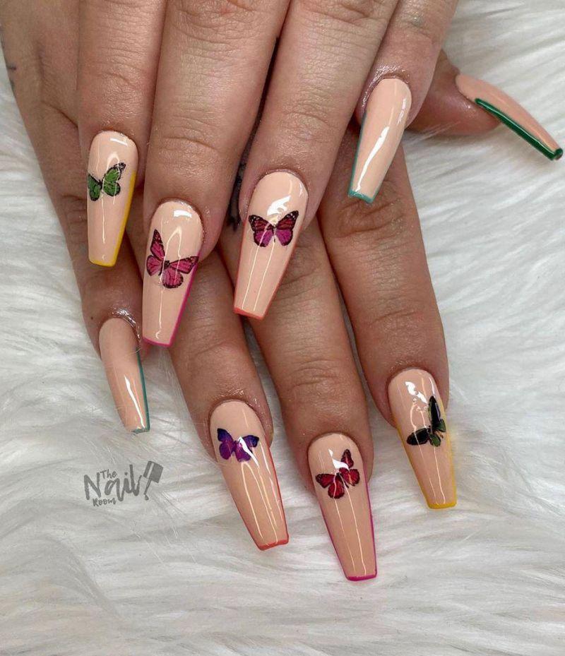 30 Trendy Butterfly Nail Art Designs