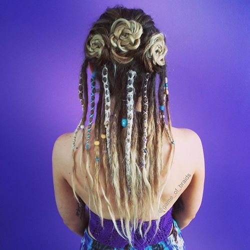 half dreaded hair styles 20 daring and creative hairstyles with dreadlocks for 1484