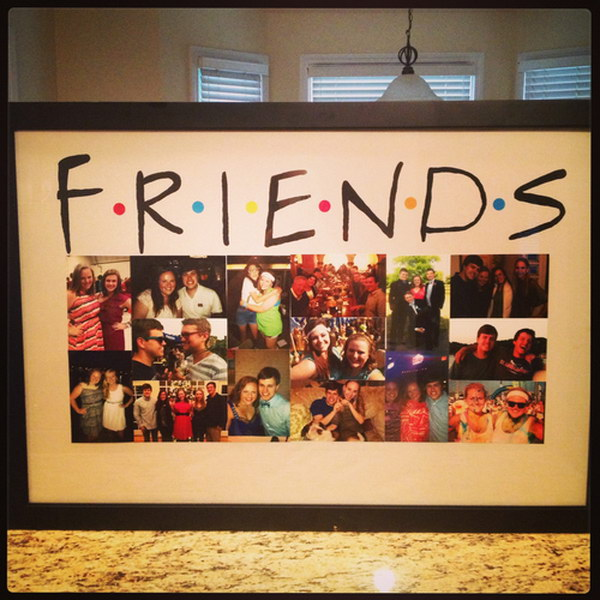 1 Picture Collage Cute Idea For Displaying Pictures Of Your Best Friends