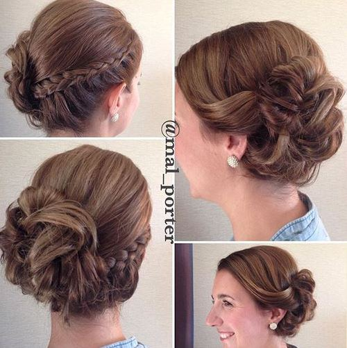 short hair up styles 60 updos for hair your creative hair 9724 | 56 braid and bun updo for shorter hair