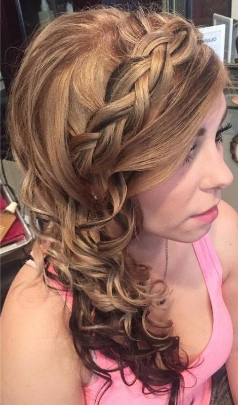 side curls hair styles 50 sumptuous side hairstyles for prom to any taste 9965
